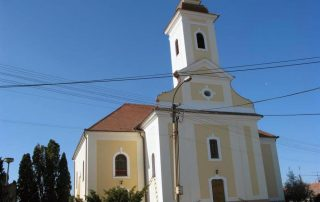 Kostol v obci Abrahám
