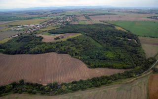 Letecký snímok háj Abrahám