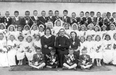 Prvé sväté prijímanie v roku 1950