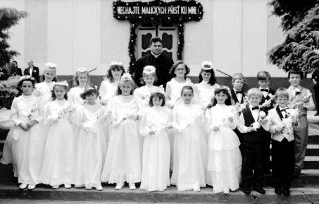 Prvé sväté prijímanie v roku 1991