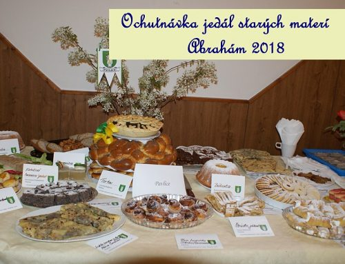 Výstava jedál starých materí, Abrahám 2018