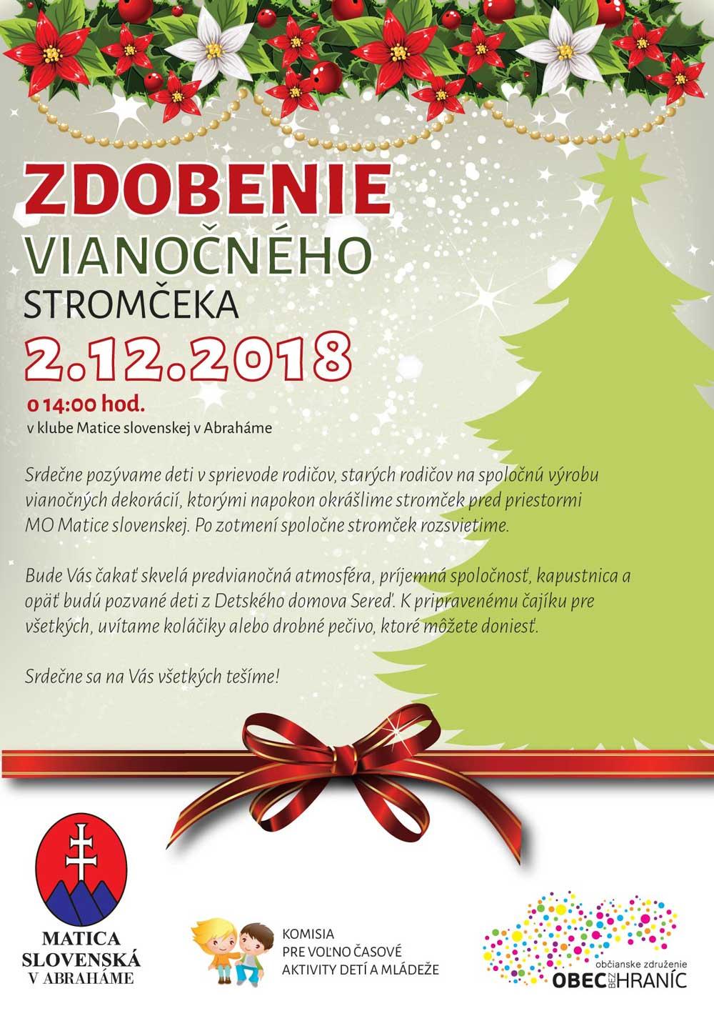 Zdobenie vianočného stromčeka 2018