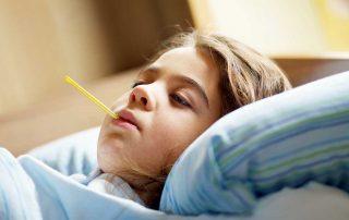 chrípkové prázdniny, choré dieťa