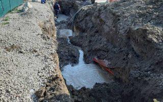 havária vodovodu