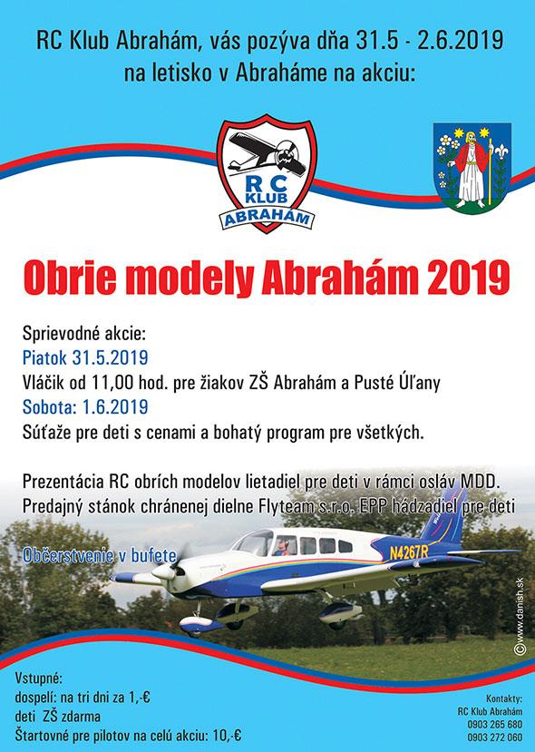 Obrie modely 2019 Abrahám - plagát