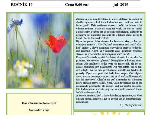 Abrahámske noviny číslo 2, ročník 16, júl 2019
