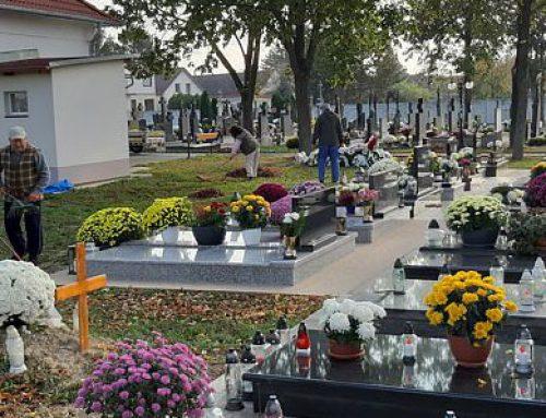 Brigáda na cintoríne, poďakovanie starostu + fotogaléria