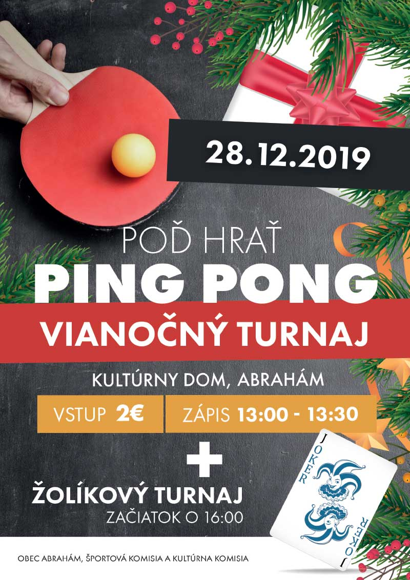 ping pongový turnaj a žolík