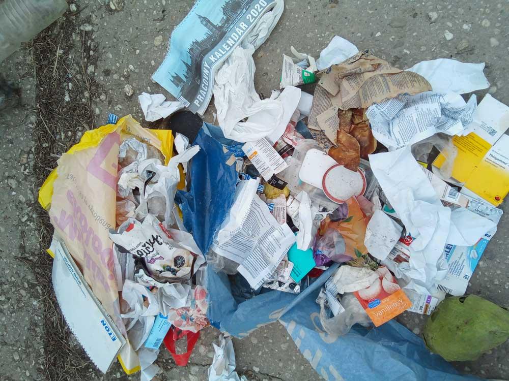 odpad. plasty, vrece