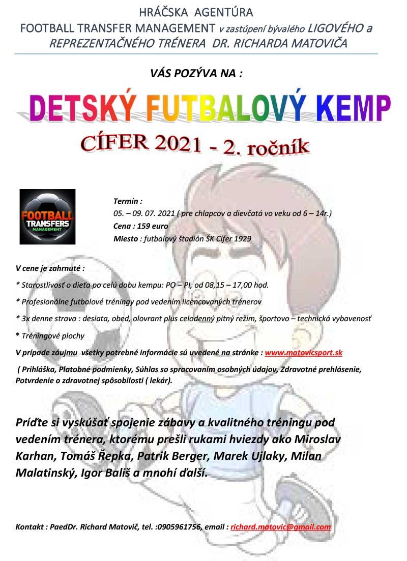 futbalový kemp Cífer