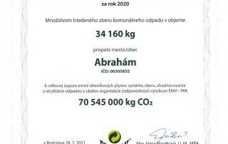 certifikát ENIV-PAK 2020